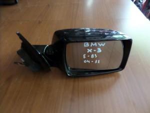 BMW X3 E83 04-11 ηλεκτρικός καθρέπτης δεξιός μπλέ σκούρο (5 καλώδια)