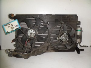Audi A3 96-03 1.6cc-1.8cc βενζίνη ψυγείο κομπλέ (νερού-air condition-διπλό βεντιλατέρ)