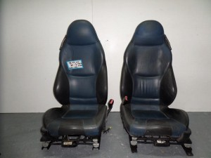 BMW z3 96 κάθισμα bucket εμπρός αριστερό-δεξί μπλέ-μαύρο δερμάτινα