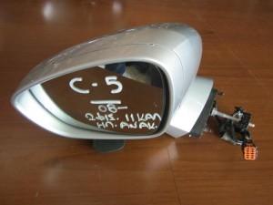 Citroen C5 08 ηλεκτρικός ανακλινόμενος καθρέπτης αριστερός ασημί (11 καλώδια-2 φίς)