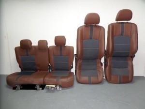 Daihatsu Terios 2006-2017 set καθίσματα εμπρός-πίσω airbag καφέ-γκρί (δερμάτινα-4 ταπετσαρίες)