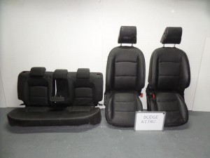 Dodge nitro 07 σέτ καθίσματα με airbag εμπρός-πίσω γκρί σκούρο