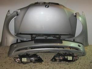 BMW series 3 E46 SDN 02-05 μούρη μετώπη εμπρός κομπλέ ασημί