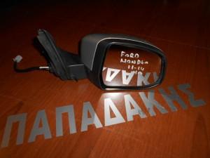 Ford Mondeo 2011-2014 καθρέπτης εξωτερικός δεξιός ηλεκτρικός φως ασφαλείας ασημί