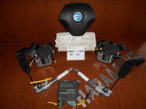 Fiat Grande Punto 2005-2008 ΣΕΤ AIR BAG (ταμπλώ μαύρο-οδηγού-συνοδηγού-2 ζώνες με προεντατήρες-εγκεφαλάκι)