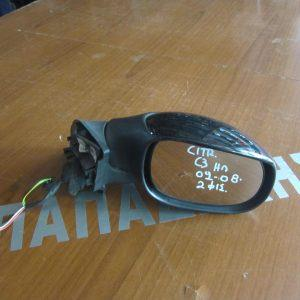 Citroen C3 2002-2009 καθρέπτης δεξιός ηλεκτρικός μαύρος 2 φις