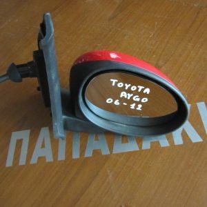 Toyota Aygo 2006-2012 καθρέπτης δεξιός μηχανικός κόκκινος