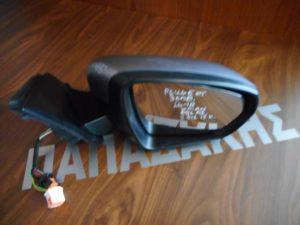 Peugeot 3008 2016-2018 καθρέπτης δεξιός ηλεκτρικά ανακλινομενος 2 φις 13 καλώδια φως ασφαλειας ασήμι