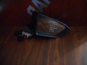 Seat Leon 2012-2017 καθρεπτης δεξιος ηλεκτρικα ανακλινομενός 2 φισ 12 καλώδια μαύρος