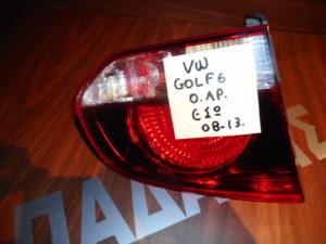 VW Golf 6 2008-2013 φανάρι πίσω αριστερό εσωτερικό φιμέ